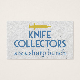 Knife Collectors Sharp Business Card