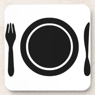 Knife, Fork and Plate. Coaster