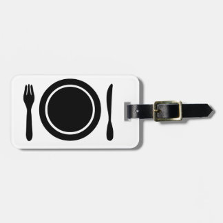Knife, Fork and Plate. Luggage Tag