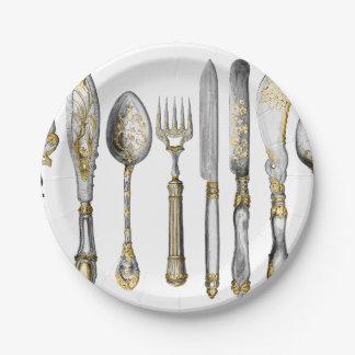 Knife fork spoon cutlery paper plate