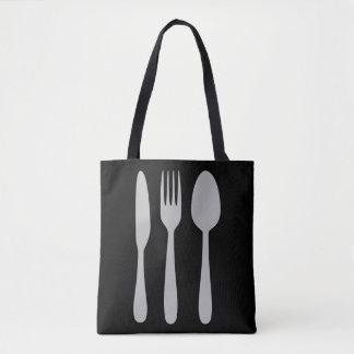 Knife Fork Spoon Silverware Cutlery Tote Bag