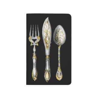 Knife fork spoon trio journal
