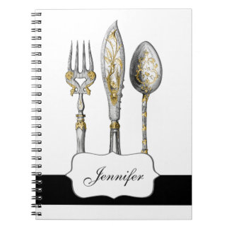 Knife fork spoon trio notebook