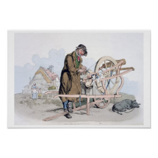 Knife Grinder, from 'Costume of Great Britain', pu Poster