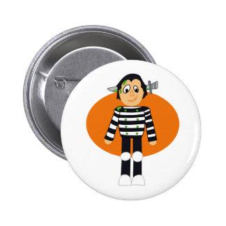 Knife Head cartoon orange behind Button