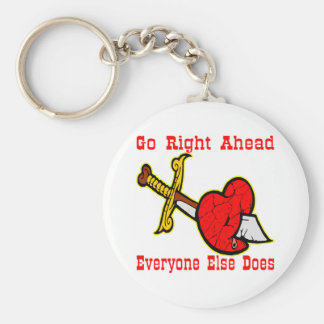 Knife In The Heart  #0033 Keychain