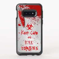 Knife Keep Calm And Kill Zombies Written in Blood OtterBox Symmetry Samsung Galaxy S10e Case