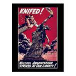 Knifed Postcard