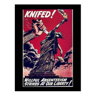 Knifed Tarjeta Postal
