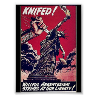 Knifed Poster