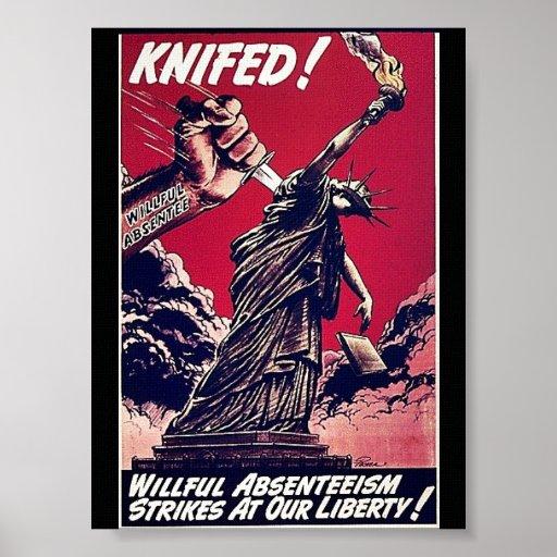 Knifed Póster