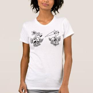 KNIFEHEAD vs. FLOWERHEAD T-shirts