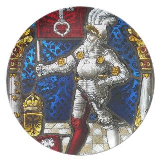 knight #3 melamine plate
