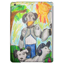 Knight and big horn sheep case for iPad air