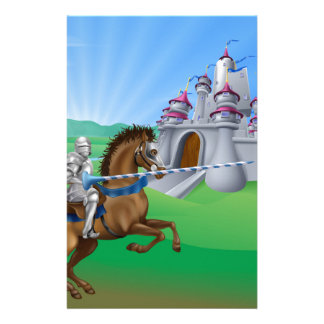 Knight and castle stationery