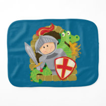 Knight and Dragon Burp Cloth