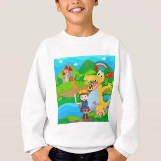 Knight and dragon on the fairy land sweatshirt