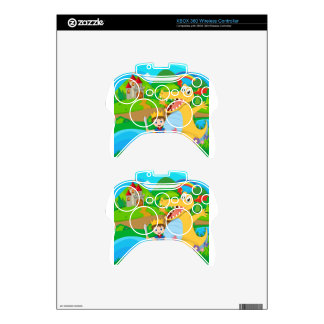 Knight and dragon on the fairy land xbox 360 controller skins