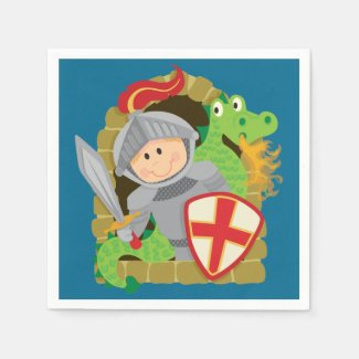 Knight and Dragon Paper Napkins