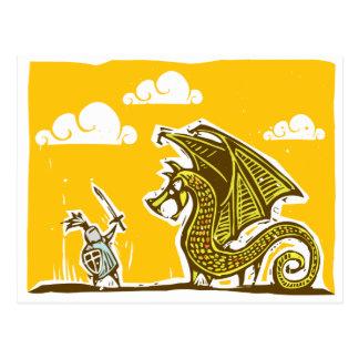 Knight and Dragon Postcard
