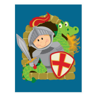 Knight and Dragon Postcard