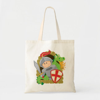 Knight and Dragon Tote Bag