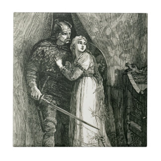 Knight and Fair Maiden Tile