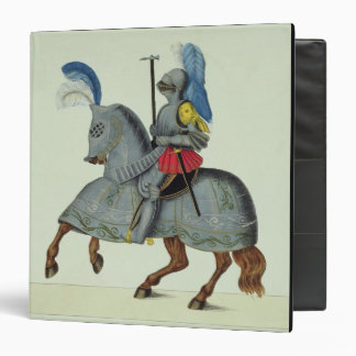 Knight and horse in armour, plate from 'A History 3 Ring Binder