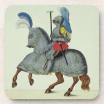 Knight and horse in armour, plate from 'A History Coasters