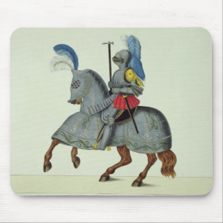 Knight and horse in armour, plate from 'A History Mouse Pad