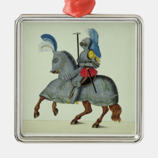 Knight and horse in armour, plate from 'A History Christmas Tree Ornaments