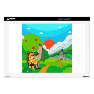 Knight and horse on the land laptop skin