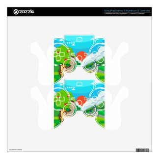 Knight and horse on the land PS3 controller decals