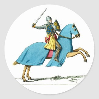 knight and horse sticker