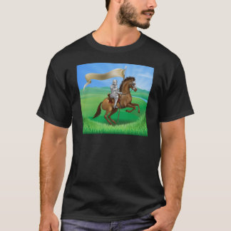 Knight and Horse with banner T-Shirt