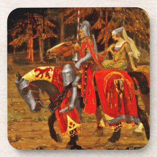 Knight and Maiden Chivalry Coasters