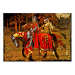 Knight and Maiden Chivalry Large Business Card