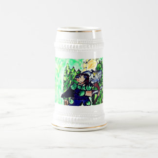 knight and owl beer stein