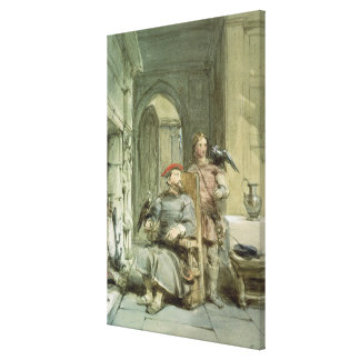 Knight and Page Canvas Print