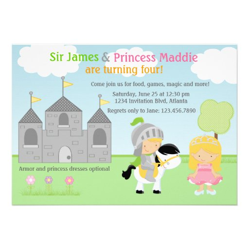 Personalized Knight birthday party Invitations – Knight Birthday Invitations