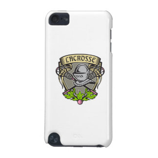 Knight Armor Lacrosse Stick Crest Woodcut iPod Touch (5th Generation) Case