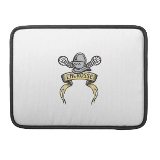 Knight Armor Lacrosse Stick Woodcut Sleeve For MacBooks