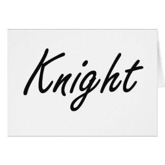 Knight Artistic Job Design Greeting Card