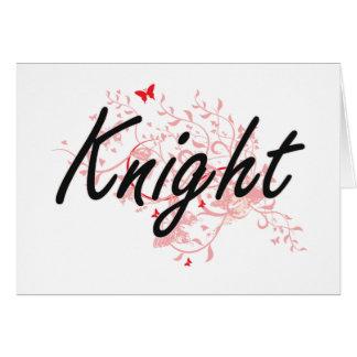 Knight Artistic Job Design with Butterflies Card