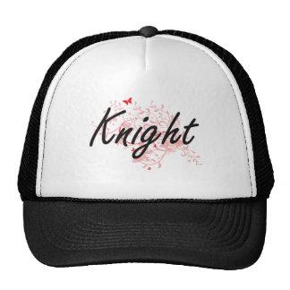 Knight Artistic Job Design with Butterflies Trucker Hat