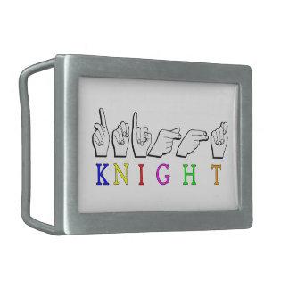 KNIGHT  ASL FINGERSPELLED BELT BUCKLE