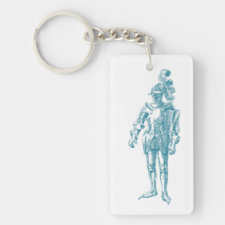 Knight at Ease (single-sided) Keychain