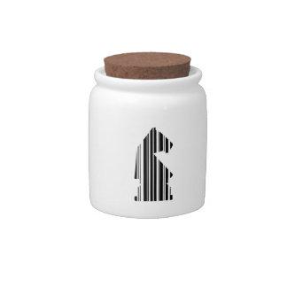 KNIGHT BAR CODE Chess Piece Pattern Design Candy Jars