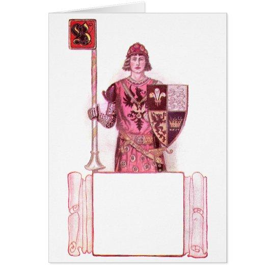 Knight Bearing Shield and Lance Card