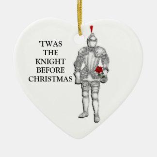 Knight Before Christmas Ceramic Ornament